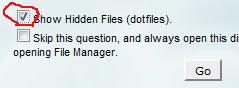 show hidden file
