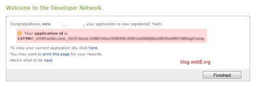 yahoo application id