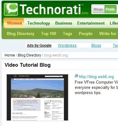 technorati blog review