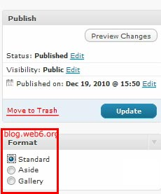 post format wordpress 3.1