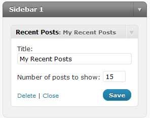 recent posts plugin