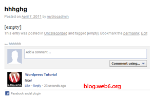 add facebook comment to wordpress