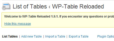 create tables in wordpress