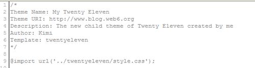 twenty eleven child theme