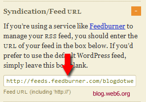 redirect rss feed