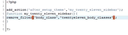 twenty eleven sidebar