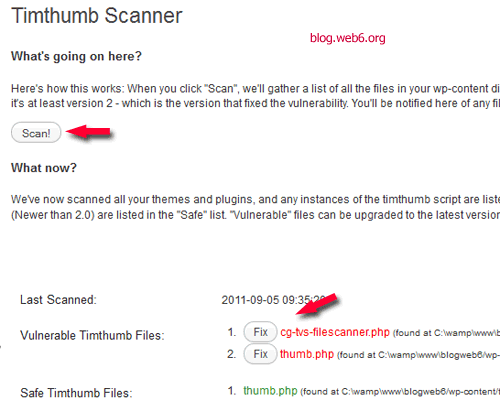 plugin to check timthumb