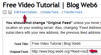 wordpress feed not updating