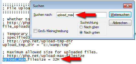 maximum upload file size 2mb
