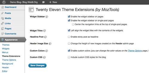 plugin to modify twenty eleven color