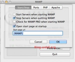 Start or Stop MAMP