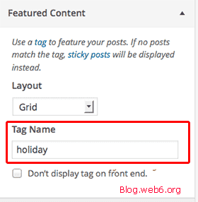Featured content with Tag Name