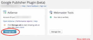 Manage ads with Google Publisher Plugin in dashboard