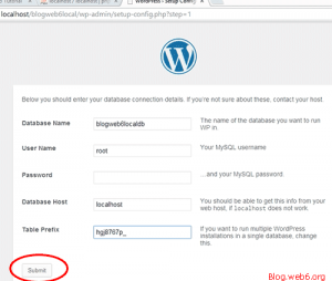 WordPress configuration file