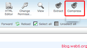 """After Selecting all your files, click """"Compress"""" icon."""