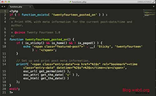 Functions.php will look after editing