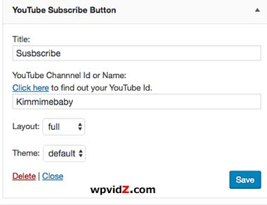 YouTube Subscriber Button Plugin has simple interface