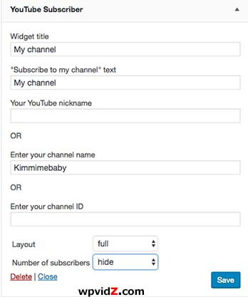 YouTube Subscriber plugin has many options